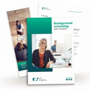 background screening policy template