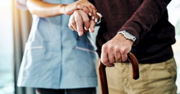 Aged Care Patient With Careworker