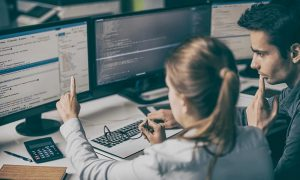 Employee Ensuring Companys Hr Is Cyber Secure