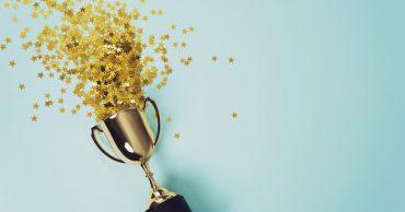 Internal Talent Awards winner trophy