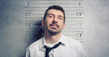 Employee with criminal record mugshot