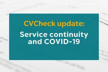 CVCheck Update: Covid-19